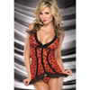 Bow mesh cami with g-string