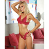 Lace halter top with thong