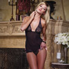 Lace babydoll thong and toy