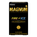 Trojan magnum fire & ice lubricated