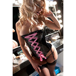 Vinyl ribbon laced corset reviews