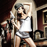 Silver satin camisole and short set reviews