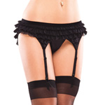 Black ruffled garter belt reviews