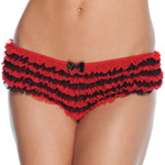 Red and black ruffle panty reviews