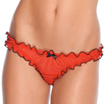 Mesh panty with satin bow reviews