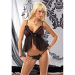 Lycra babydoll set with mesh overlay reviews