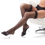 Fishnet stockings with ruffled lace reviews