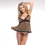Leopard babydoll and g-string reviews