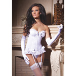 Lace bustier with garters reviews