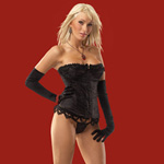 Bustier with padded underwire and g-string black reviews