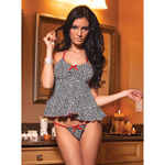 Leopard babydoll and panty reviews