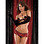 Sequined bra and skirt set reviews