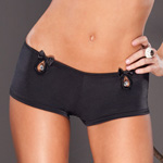 Lycra booty short with rhinestones reviews