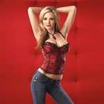 Red satin and lace bustier reviews