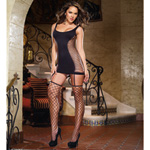 Opaque fence net garter dress with stockings reviews