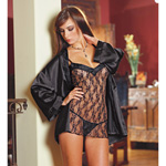 Chemise with robe and thong set reviews