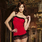 Heart print chemise and thong reviews