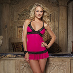 Lace and ruffle babydoll and thong reviews