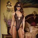 Stretch lace halter teddy and mask reviews