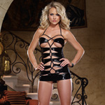 Lace-up chemise and thong reviews