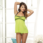 Mesh halter babydoll set reviews