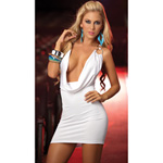 White open front dress reviews