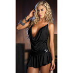 Black draping front dress reviews