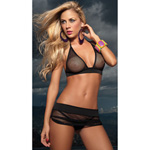 Black fishnet three piece set reviews