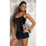 Edgy cut out stretch foil top reviews