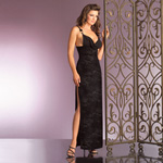 Velvet forest cowl neck evening gown reviews