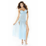 Blue low back gown reviews