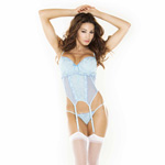 Blue garter bustier set reviews