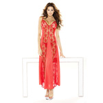 Red lace panel gown & g-string reviews