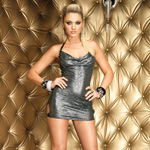Crushed foil mini dress reviews