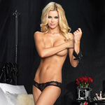 Lace trimmed crotchless panty reviews