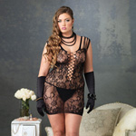 Floral lace mini dress with shredded strap detail reviews