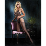Halter v-neck fishnet bodystocking reviews