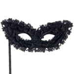 Ruffle masquerade mask reviews