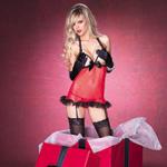 Mesh peek-a-boo chemise gift box reviews