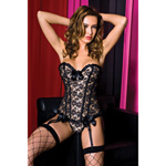 Lacy corset with matching g-string reviews