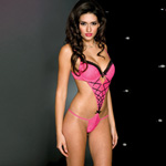 Floral lace teddy with cross straps on back reviews
