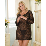 Long sleeve chemise and thong set reviews
