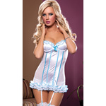 Flirty frills bustier and G-string reviews