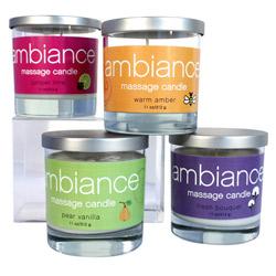 Ambiance massage candle - scented massage candle