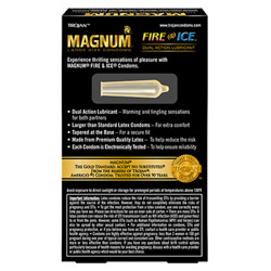 Male condom - Trojan magnum fire & ice lubricated - view #2