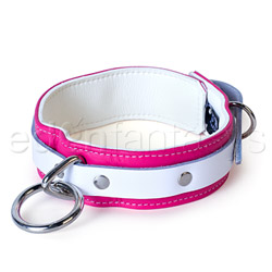 Pink candy jaguar collar - collar