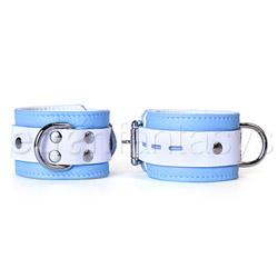 Wrist cuffs - Blue jaguar wrist cuffs - view #3