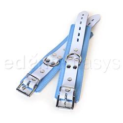Wrist cuffs - Blue jaguar wrist cuffs - view #4