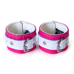 Pink candy jaguar cuffs - sex toy