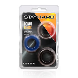 Cock ring set - Stay hard donut rings set - view #2